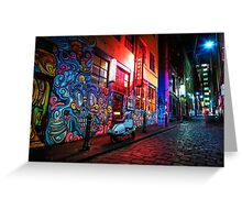 Evening in Hosier Lane Greeting Card