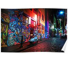 Evening in Hosier Lane Poster