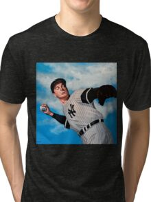 Joe DiMaggio painting Tri-blend T-Shirt