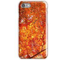 Autumn fall leaves orange iPhone Case/Skin