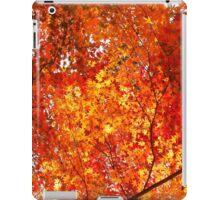 Autumn fall leaves orange iPad Case/Skin