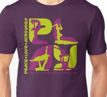 P+L+AY Poses: Green & Purple Square Unisex T-Shirt