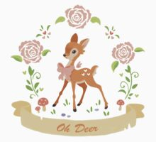 Oh Deer One Piece - Short Sleeve
