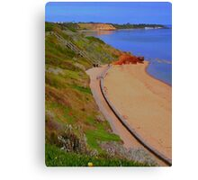 Sandringham Beach - Red Bluff cliffs  - Victoria - Australia Canvas Print