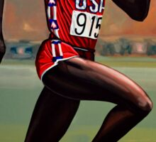 Carl Lewis painting Sticker