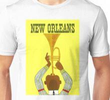 """NEW ORLEANS"" Vintage Mardi Gras Print Unisex T-Shirt"