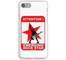 Attention! emerging rock star! iPhone Case/Skin