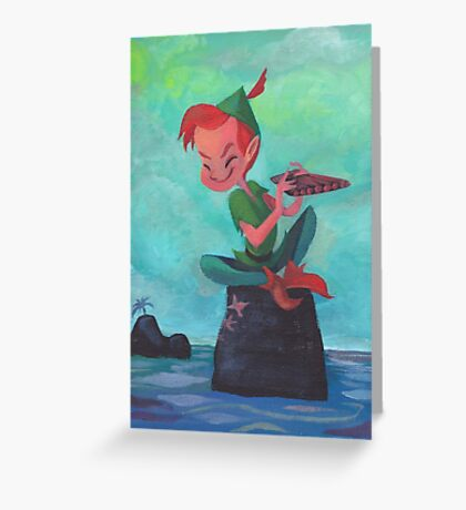 Story time with Peter Pan Greeting Card