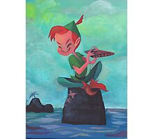 Story time with Peter Pan Photographic Print