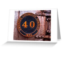 Old Number 40 Greeting Card