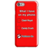 What's on the phone iPhone Case/Skin