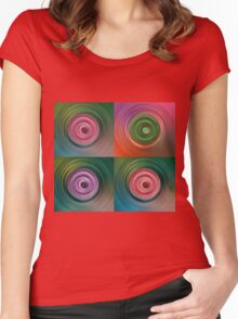 Circular Galaxy Women's Fitted Scoop T-Shirt