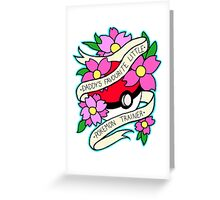 Daddy's Favourite Little Pokemon Trainer Greeting Card