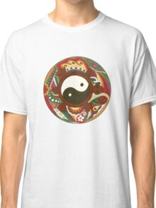 Vintage Psychedelic Yin Yang Turtle Classic T-Shirt