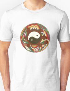 Vintage Psychedelic Yin Yang Turtle Unisex T-Shirt