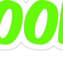 Boom (green) Sticker