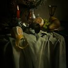 Still life with fruits and fresh flowers by JBlaminsky