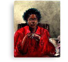 Self Portrait with Serena 2014 Canvas Print
