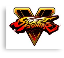 STREET FIGHTER FIVE LOGO Canvas Print