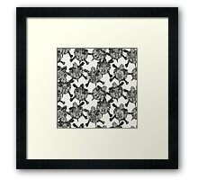 turtle party ivory black Framed Print