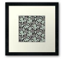 turtle party sage mist Framed Print