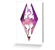 Skyrim Dragon Galaxy Greeting Card