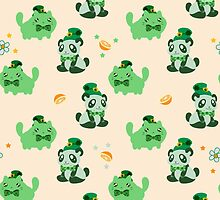 Lucky Citrus Panda and Kitty Pattern by SaradaBoru