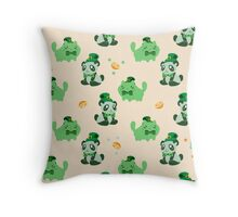 Lucky Citrus Panda and Kitty Pattern Throw Pillow
