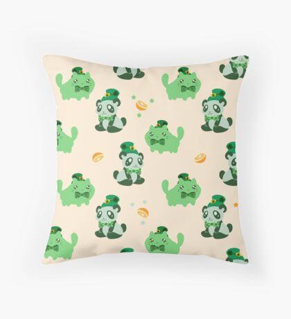 Lucky Citrus Panda and Kitty Pattern Throw Pillow