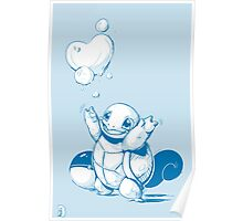 Squirtle Pokemon with Pokeball Poster