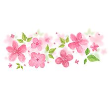 Hand Painted Flowers Photographic Print