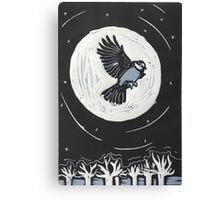 Lino Cut bird in flight Canvas Print
