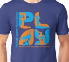 P+L+AY Poses: Orange & Cyan Unisex T-Shirt