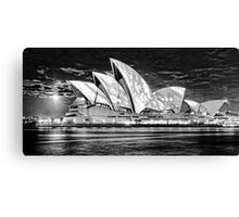 Sydney Opera House B&W  Canvas Print