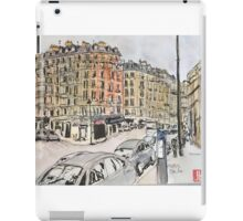 An urban sketch from a recent trip to Paris iPad Case/Skin