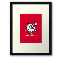 Mr. White Framed Print