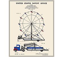 Ferris Wheel Patent Photographic Print