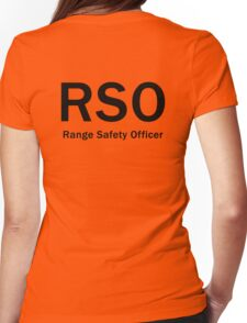 RSO - Range Safety Officer Womens Fitted T-Shirt