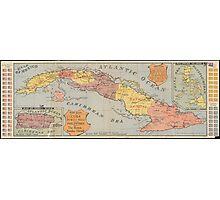 Vintage Map of Cuba (1898) 3 Photographic Print