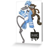 Regular Show Greeting Card