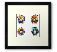 Positive Golden Sun Team 1  Framed Print