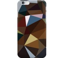 Brown and Blue Triangles iPhone Case/Skin