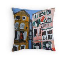 Italy on Cardboard  Throw Pillow