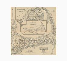 Vintage Cape Cod Cyclist Map (1893) Unisex T-Shirt