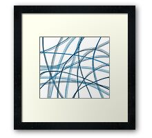 Blue linier Framed Print