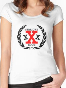XXX Straight edge Radical Women's Fitted Scoop T-Shirt