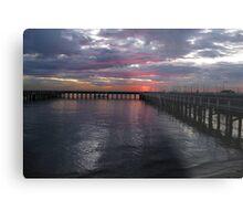 Brighton Baths Sunset - Victoria - Australia Metal Print
