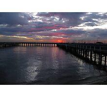 Brighton Baths Sunset - Victoria - Australia Photographic Print