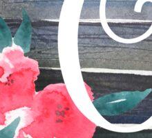 Floral Monogram O Sticker