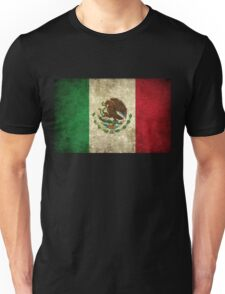 Mexican Flag - Grunge Unisex T-Shirt